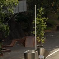 Akustischer Park und Skateboardanlage